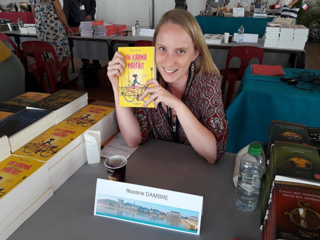 Roxane Dambre en dédicace au Salon de Saumur, juin 2018