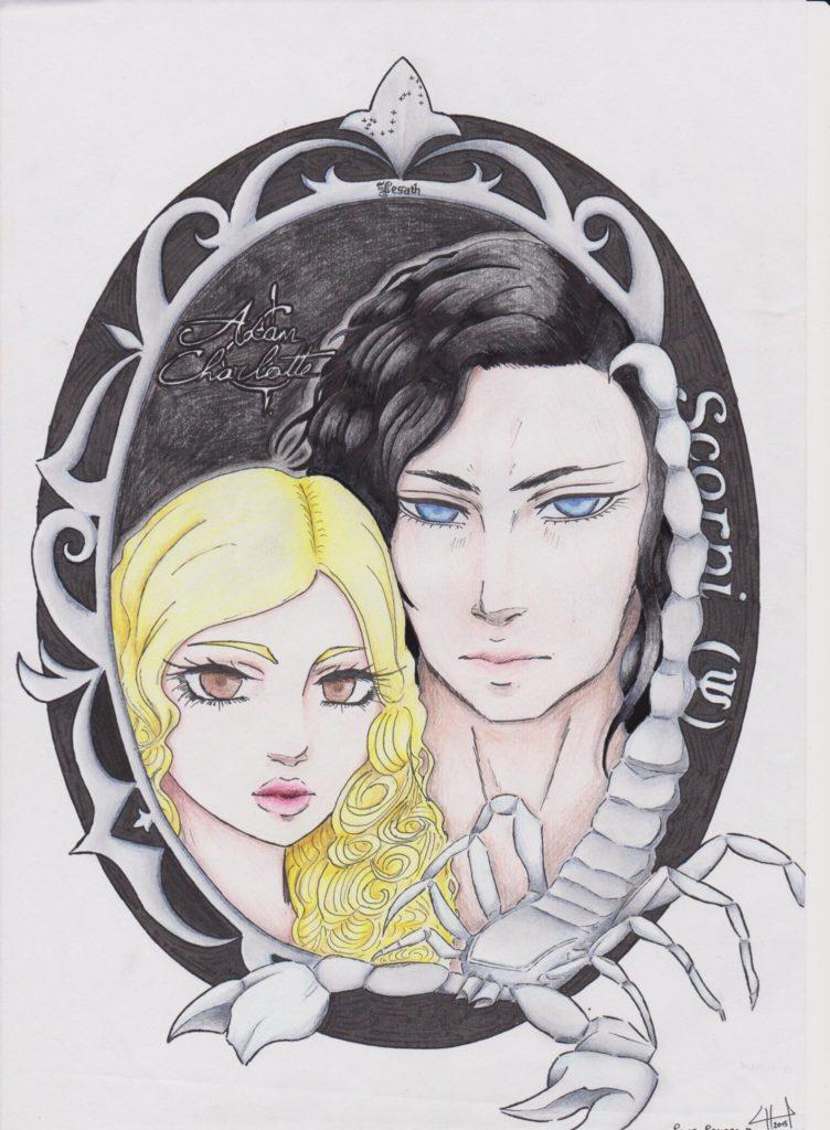 Un portrait de Charlotte et Adam signé Lucille H. - Scorpi
