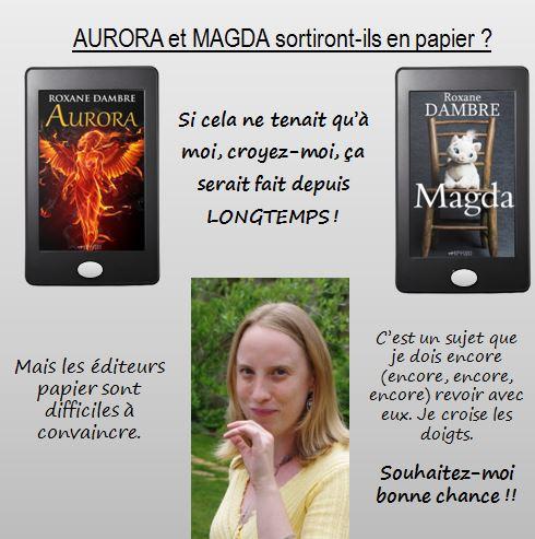 Question Aurora et Magda : du numérique au papier, toute une histoire...