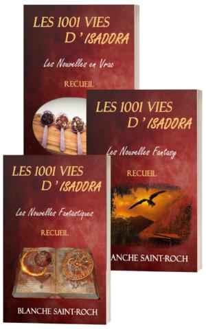 Couvertures des recueils Les 1001 vies d'Isadora